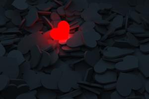 Coração aceso sozinho