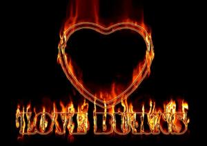 coracao em chamas