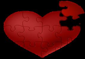 Coração quebra cabeça
